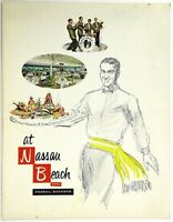 1960's Original Vintage WINE LIST Menu NASSAU BEACH HOTEL Bahamas