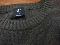 Gap Mens Crew NECK GRAY PULLOVER Llong Sleeve COTTON SWEATER SIZE M