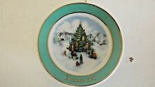 Avon Fine Collectibles Miniature Plate 1978 Trimming The Tree  CL25-22