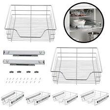 2x Teleskopschublade Küchenschublade Korbauszug Schubladen-Set zum Nachrüsten