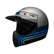 Casque moto-3 matte silver/black/blue stripes taille s Bell 7092526
