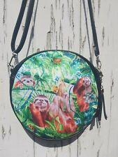 Rainforest Sloth and Frog Handbag - Bag Tropical Jungle Purse