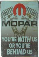"MOPAR Motor Engine for Chrysler Dodge Jeep Retro Metal Tin Sign Plaque 8x12"" NEW"