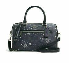 Coach Gallery Tote Bag Nightsky Handbag Purse With Stars Snowflake Print C1772