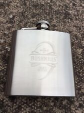 Bushmills Hip Flask Irish Rugby 6oz Brand New Boxed BUY2GET1FREE