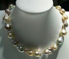 """Huge 18""""16-20mm natural south sea pink purple baroque pearl necklace"""