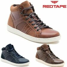 Mens Red Tape Leather Flat Lace Up Hi Tops Ankle Boots Casual Sneakers Trainers