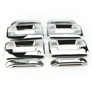 Chrome Plated 4-Door Handle Covers for 04-14 FORD F-150 Lincoln Mark LT Crew Cab