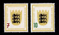 GERMANY DEUTSCHE BUNDESPOST SCOTT #729-730 BADEN-WURTTEMBURG EXPO MNH-OG 1955