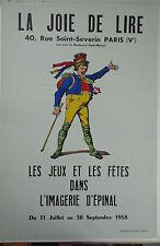 Vintage Imagerie Pellerin/La Joie de Lire,pochoir print on Ingres Paper Inv 2280