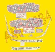 SERIE ADESIVI DECALCO CARENE APRILIA RS 50 1999 BLU FUMI-ROSSO  AP8257403