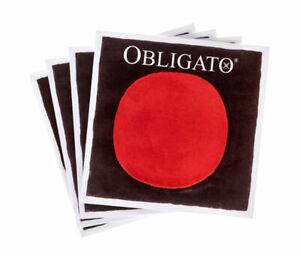 Violin Strings Set Pirastro Obligato E A D G 4/4 Med Gaug Ball End Sydney Seller