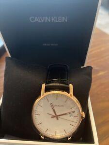Calvin Klein Minimal Quartz Silver Dial Men's Watch K9H216C6 *RRP £229*