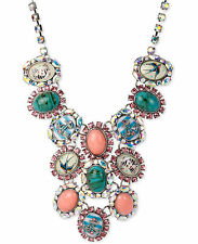 NWT Auth Betsey Johnson 'Anchors Away' Nautical Cameo Drama Necklace $165