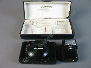 VTG Olympus XA F Zuiko 35mm F/2.8 Lens Film Rangefinder Camera & A11 Flash Works