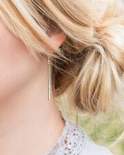 Long Bar Drop Earrings Dainty Gold Women Fashion Long Bar Drop Dangling Earrings