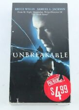 Unbreakable M. Night Shyamalan Bruce Willis Samuel L. Jackson Mr. Glass Vhs Tape