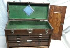 New Listingvintage Union Machinist Tool Chest Box 7 Drawers Usa Unrestored Orig Condition