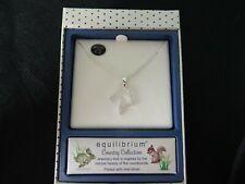 Diamante Horse Pendant Necklace Silver Plated Equilibrium