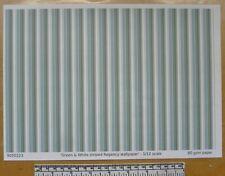 Dolls house 1/12th scale paper - A4 sheet - 'Green & white Regency' wallpaper