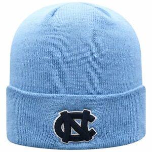 NORTH CAROLINA TARHEELS NCAA BLUE TOW BEANIE SIMPLE KNIT WINTER SKI CAP HAT NWT!