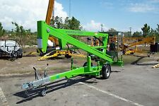 Nifty TM34M 40 Ft Towable Boom Lift,Honda Gas Power,Go Thru 4 Ft Gate,In Stock