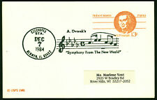 "USA 1984 postal stationery pc + cancel A.DVORAK'S ""Symphony from the new world"""