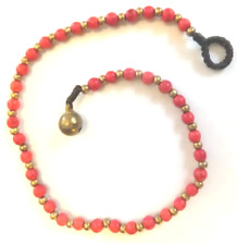 brass beads *Bn* lovely anklet, 27.5cm Red Bead Ankle Chain, red &