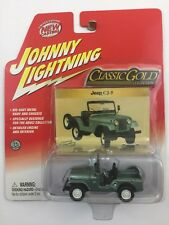 Johnny Lightning Classic Gold Collection Jeep CJ 5 Green Diecast 1/64 RubberTire