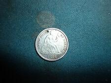 1875 liberty seated dime/love token