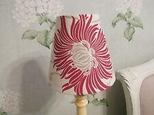 Handmade Candle Clip Lampshade Laura Ashley Kimono fabric in cranberry