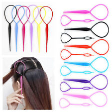 12 x Pcs Topsy Tail Hair Braid Ponytail Styling Maker Tool 6Colors Free Shipping