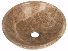 Marble Hand Face Wash Basin Bowl Bathroom 300mm diameter Light Emperador (0053)