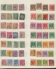 XC16539 Ceylon queen Victoria king George V classic lot used
