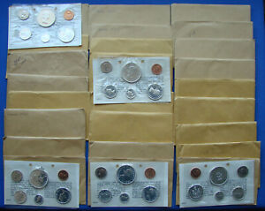 *SUPER LOT (25) 1964 CANADA SILVER PROOF SETS ALL IN THEIR MINT PACKETS & COA's*