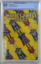 WORLD'S FINEST COMICS #37 CBCS 8.0 Superman Batman 1948 CGC Only 3 Higher Graded