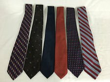 Vintage Lot of 6 Various Men's Dress Ties