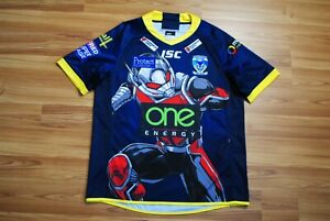 WARRINGTON WOLVES MARVEL ANT-MAN SPECIAL RUGBY SHIRT 2018 JERSEY SIZE MENS LARGE