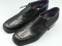 Donald J Pliner Audra Womens Leather Calf Loafer Black Shoes 7M Zipper Ret. $248