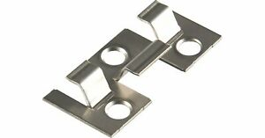 25x Kovalex Montage-Clip Metall Edelstahl schraubbar für WPC Dielen