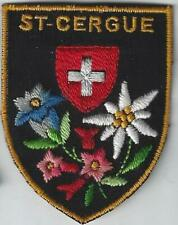 St Cergue Switzerland Souvenir Ski Patch Skiing Snowboarding