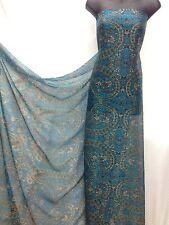 Light Weight Multicolour Silky Chiffon  Printed Fabric Dress Craft wedding light