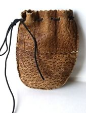 1950's  Rawhide Leather Marble Bag