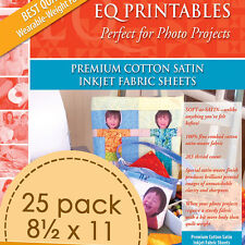 Electric Quilt Eq Printables Premium Cotton Satin Inkjet 25 Fabric Sheets
