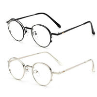 Men Vintage 42mm Round Oval Eyeglass Frame Glasses Retro Optical Eyewear
