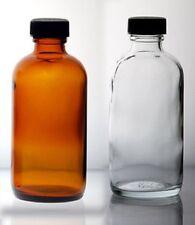 Amber 4 oz (120 ml) B/R W/screw caps- 72 pcs