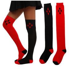 US  Harley Quinn DC Comics Licensed Cotton Long Knee High Boot Socks