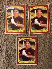 (3) 1986 Fleer Box Bottom #S-3 -- STEVE GARVEY Baseball Card Lot -- PADRES