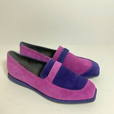 Camper womens sz 39 9 9.5 Purple suede colorblock skimmer slip on loafers