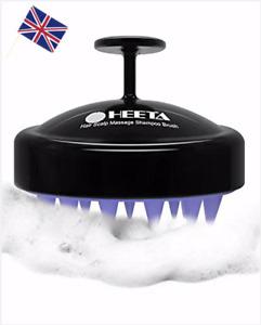 Hair Scalp Massager Heeta Shampoo Brush Wet and Dry Silicone Head Massage UK